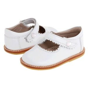 Elephantito Other - Elephantito White Leather Mary Jane Shoes