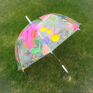 Thimblepress Accessories - ☂️Clear Bubble Umbrella With Floral Design☂️