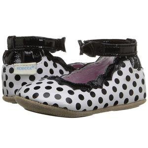 Robeez Other - Robeez Charlotte Mini Shoez Black While polka dot