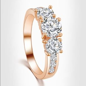 Jewelry - 💥HOST PIC💥 OMG NEW GORGEOUS  CZ Rose Gold Ring 8