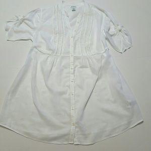 Motherhood Maternity White Blouse Size Medium