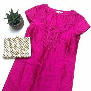 Calypso St. Barth Dresses & Skirts - CALYPSO ST. BARTH Pink Crushed Silk Shift Dress