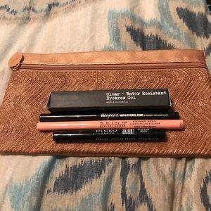 Other - Make up bag with 3 eyeliners and eyebrow gel!
