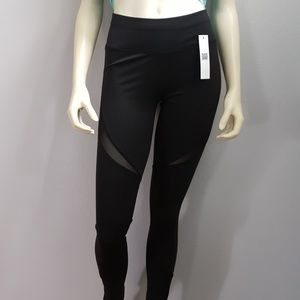 Pants - Black Mesh yoga workout leggings