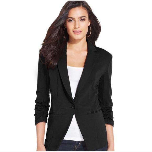 4a86e8681a53a Style & Co Jackets & Coats   Style Co Black Stretch Knit Blazer ...