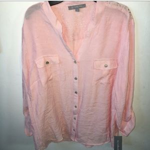 NY Collection Tops - NY Collection Pink Top Blouse Size XL