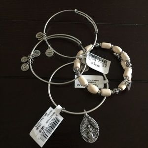 Alex & Ani Jewelry - NWT Alex & Ani 4 bracelet guardian of peace set!