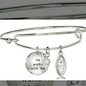 Avon 'He Walks With Me' Bracelet