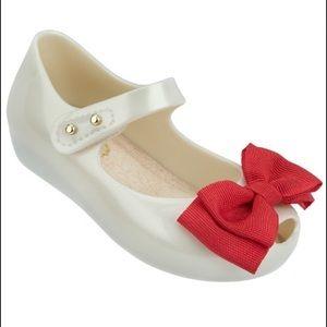 Mini Melissa Other - Mini Melissa Bow UltraGirl Sweet White & Red Bow