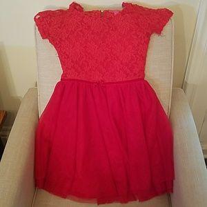 Betsey Johnson Other - Kids Betsey Johnson Red Lace Dress Size Med. 10.