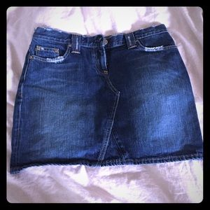 J crew denim jean skirt size 29