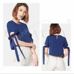 Gracia Tops - Gracia Tie- up sleeves Top