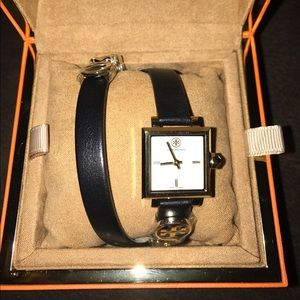 Tory Burch Accessories - Tory burch double wrap leather strap watch