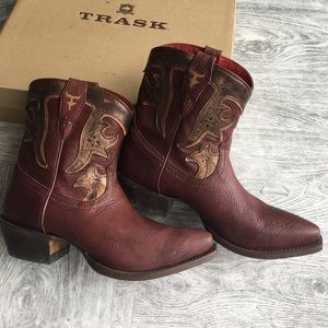 Trask Shoes - Trask Laurel cowboy boots, worn once! 9.5