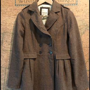 Heritage 1981 Jackets & Blazers - Heritage 1981 (Forever 21) Brown Tweed Coat