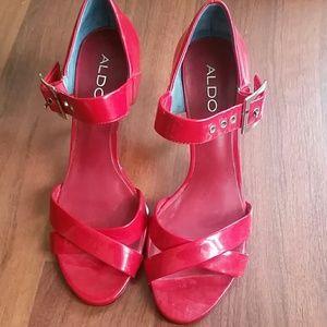 Aldo red sandals