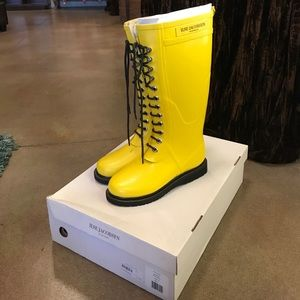 Ilse Jacobsen Shoes - ILSE JACOBSEN Lace-Up Yellow Rainboot