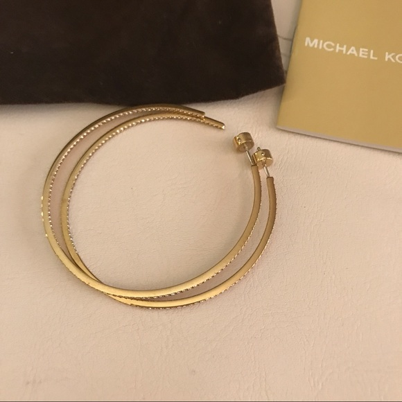 michael hoop earrings michael kors michael kors gold tone hoop earrings from 8637