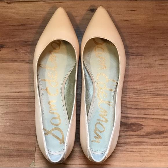 e13b35bfe Sam Edelman Shoes - Sam Edelman Rae Nude Pointed Toe Flats - Size 9