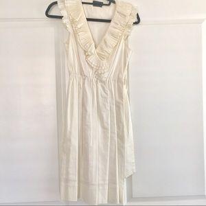Deep-V Ruffle Dress
