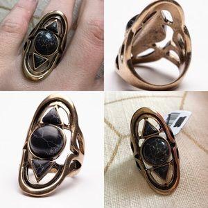 NWT free people cosmic stone ring triple