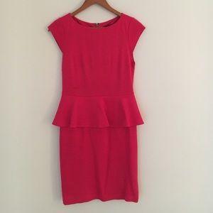 Alice+Olivia peplum dress in pink size 4