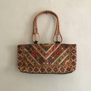 Handbags - Wood handle purse