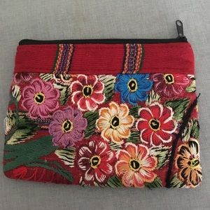 Mexican embroidery pocket purse
