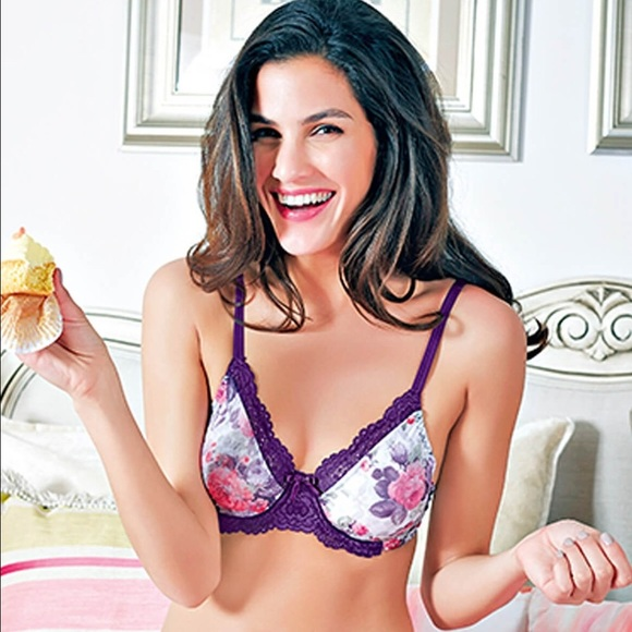 c82c37db94 New pretty purple lace wired bra wit floral print. NWT. Enamor