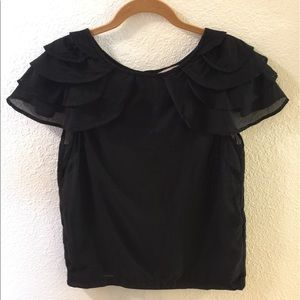 H&M Black sheer blouse