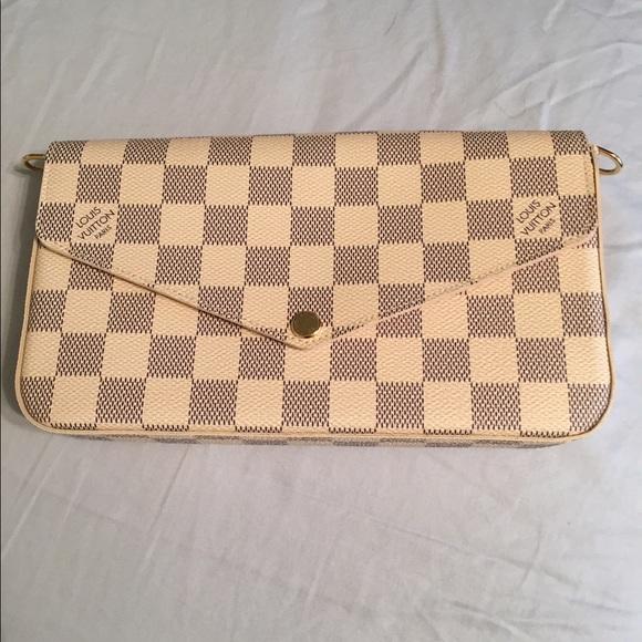 44d3c65450 Louis Vuitton Pochette Felicie Damier Azur
