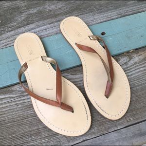 J. Crew Shoes - J Crew Brown Leather Sandals