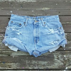 American Eagle Outfitters Pants - Friday Sale Custom ripped shorts