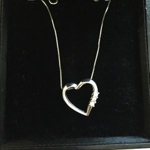 💎 Diamond Heart Pendant Necklace 10k Gold