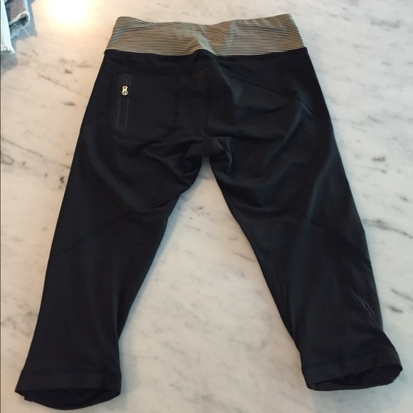 72% off lululemon athletica Pants - Black and White ...