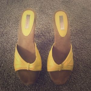 Shoes - Yellow heels