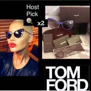 Tom Ford Accessories - 🌹HPx2🌹Tom Ford AnastasiaGlitter CateyeSunglasses