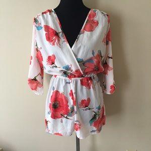 Dresses & Skirts - NWOT Floral Romper size M