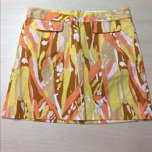 J. Crew Dresses & Skirts - Bright Orange Peachy Yellow Splatter 4