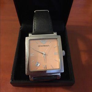 Emporio Armani Accessories - 💎 Emporio Armani rose gold face Watch
