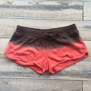 PJ Salvage Other - PJ Salvage Dip Dye Coral & Gray Sleep Shorts NWOT