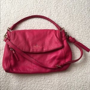 kate spade Handbags - Kate spade pink leather slouch hobo