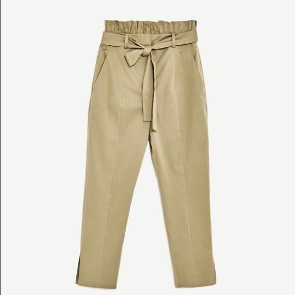 7a60b11a Zara Paperbag Trousers. M_58ffce3f4225be12a101fa66
