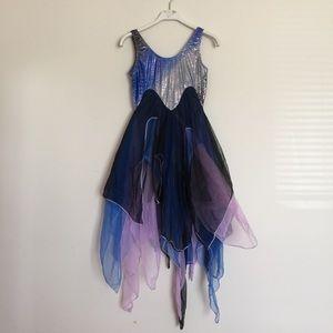 Dresses & Skirts - Blue purple silver fairy mermaid leotard small