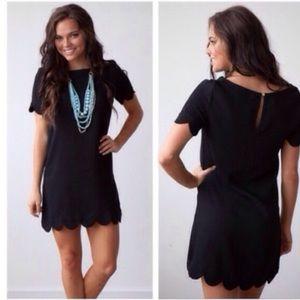 Molly Dolly Dresses & Skirts - 🖤NEW IN🖤 Black Scallop Hem Mini Cute Dress