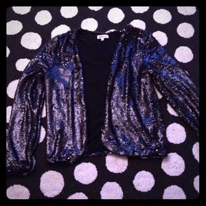 just fab Jackets & Blazers - Price firm - Just Fab Sequin Blazer Size Small