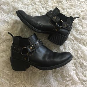 b.o.c. Shoes - Born b.o.c black ankle harness booties!!