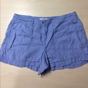 LOFT Pants - Loft Lilac Linen Shorts Size 8
