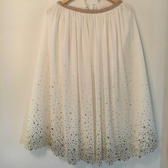 ce96c9c68 cat & jack Bottoms | Cat Jack Girls Xl 1426 Gold White Tulle Skirt ...