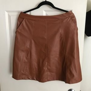 Dresses & Skirts - Brown Leather Skirt